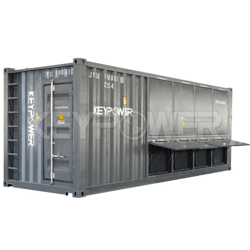 20ft Container 2000 kW Resistive Load Bank power factor 1 with Generator Tester