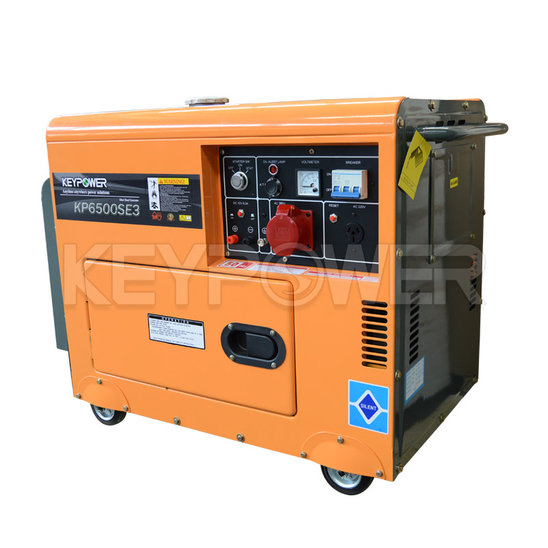 3 Phase Portable Gen-set 6.5 kw Silent Type for Sale