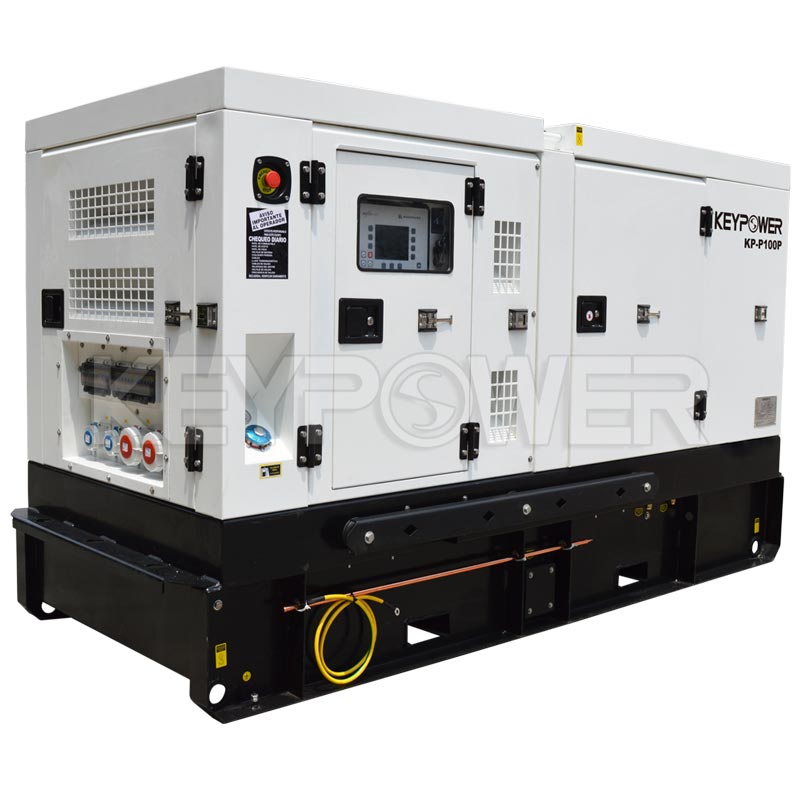 Silent 100 kVA Diesel Generator Rental Type with Perkins engine