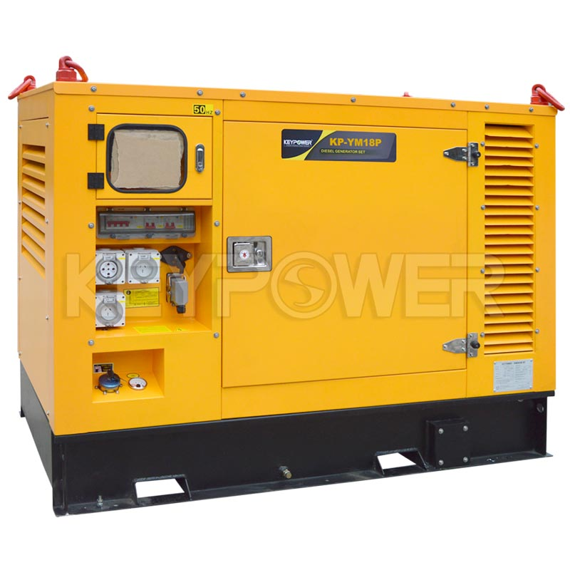 18 kVA Soundproof Diesel Generator Set Powered by YANMAR 4TNV88 for Singapore