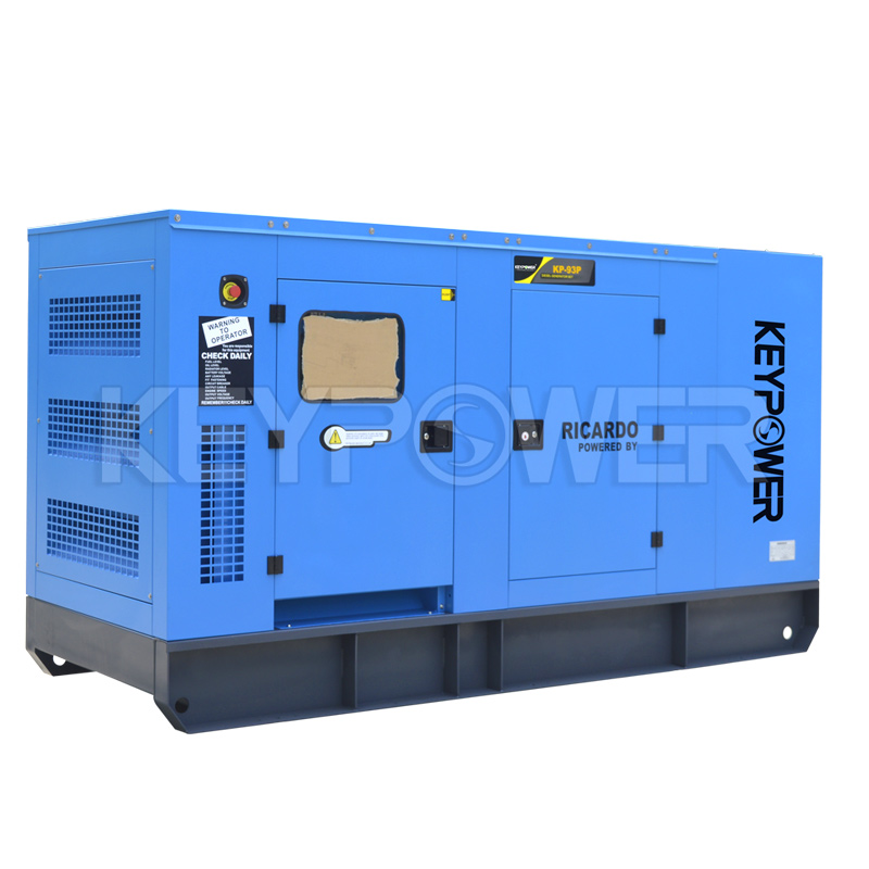 90 kVA Low Noise AC 3 Phase Diesel Generators with Volvo engine TAD530GE